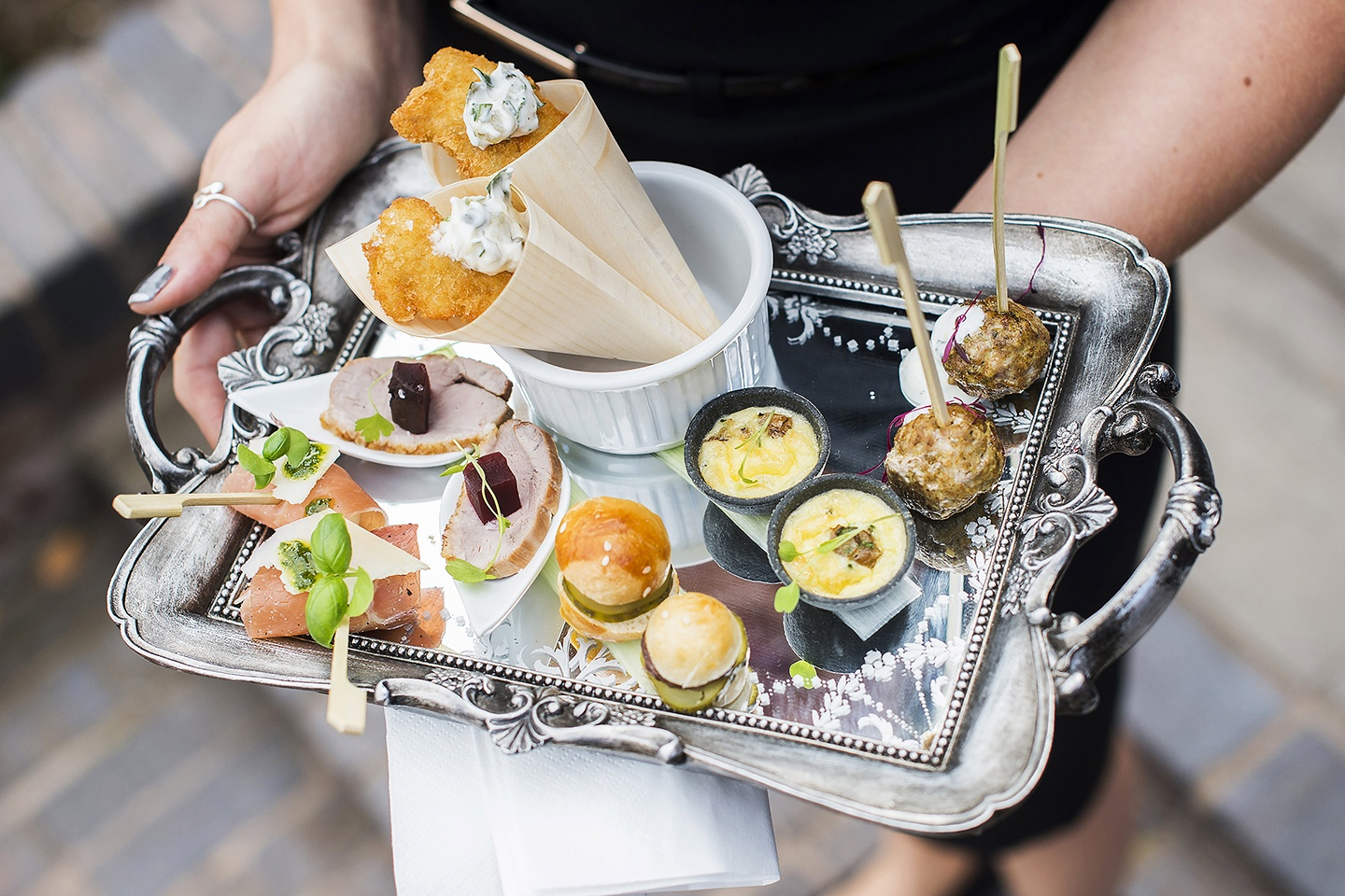 Treat your guests with mouth-watering canapés from the expert caterers while you celebrate. It's a great way to kick off the festivities at The Pear Tree